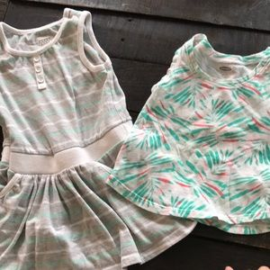 Old navy 2T dress and tank top
